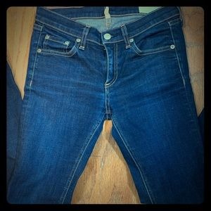 Rag & Bone Ankle Skinny Blue Jeans Womens Size 26